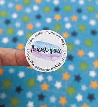 Load image into Gallery viewer, E&L Designs Your Order Made My Day Thank You Stickers