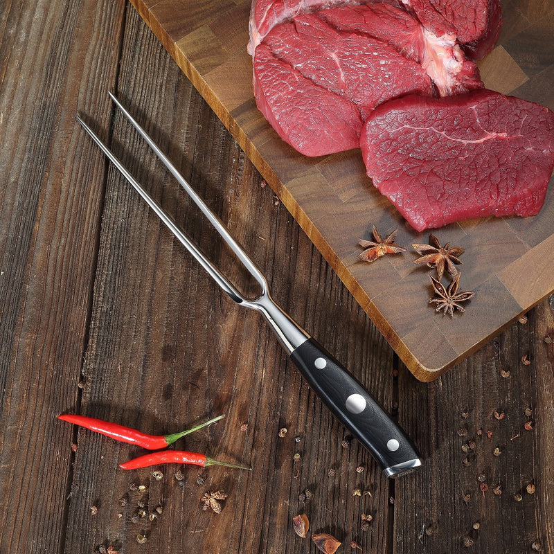 "Ultra Dark Premium 7"" Carving Fork"