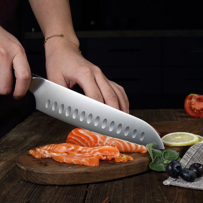 "Ultra Dark Premium 7"" Santoku Knife"