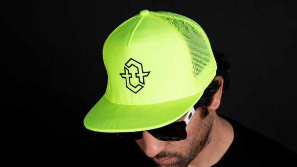 City Logo Trucker Hat (Neon Green)