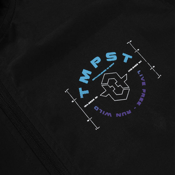 Astral Anorak Windbreaker Jacket (Black)