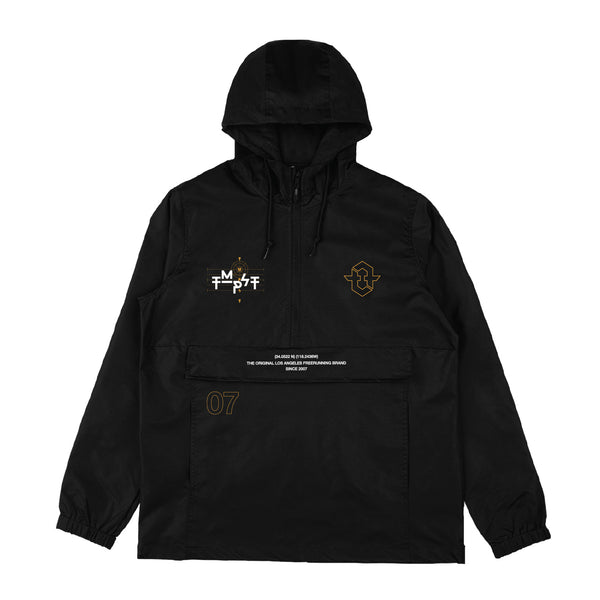 Diagram Anorak Windbreaker Jacket (Black)