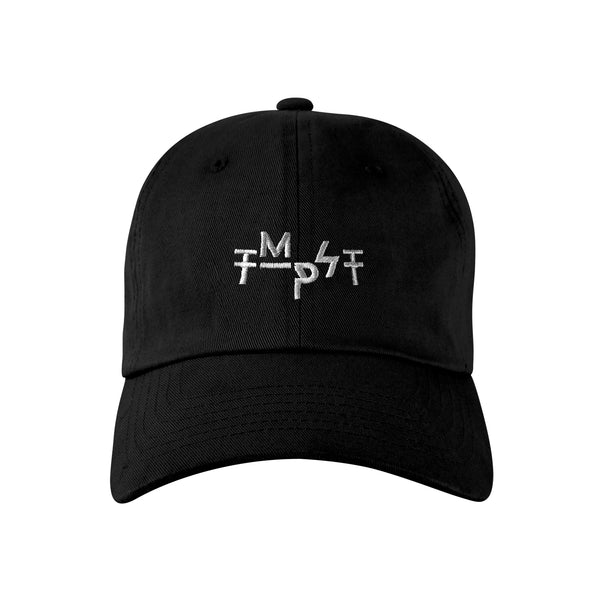 Staggered Logo Dad Hat (Black)