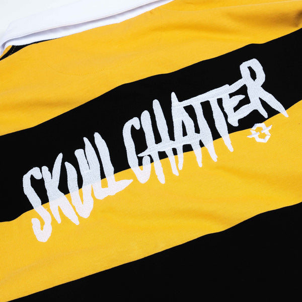 Skull Chatter Rugby Polo (Black/Yellow)