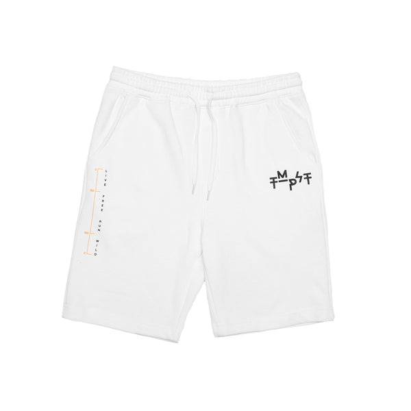 Diagram Sweatshorts (White)