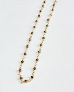 "18"" Bronze Crystal Brass Chain"