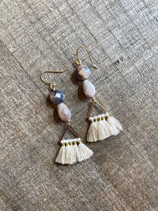 Peach Moonstone Tassel
