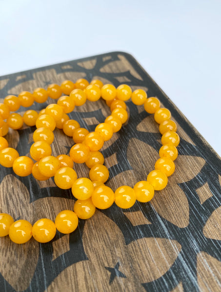 Yellow Jade Stretch Bracelet