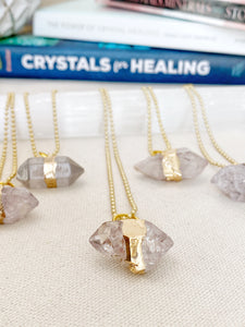 Raw Crystal Quartz (Rutilated) Necklace
