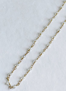 "20"" Crystal Brass Chain"