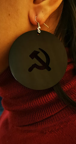 Black ☭ earrings