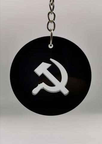 Hammer and sickle keychain