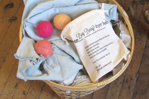 Bog Berry Dryer Balls - Wildflowers assortment set of 6 wool dryer balls
