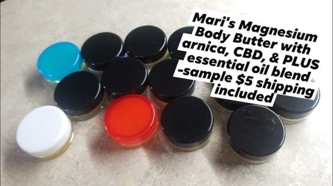 Mari's Magnesium Body Butter with arnica, CBD, & PLUS essential oil blend