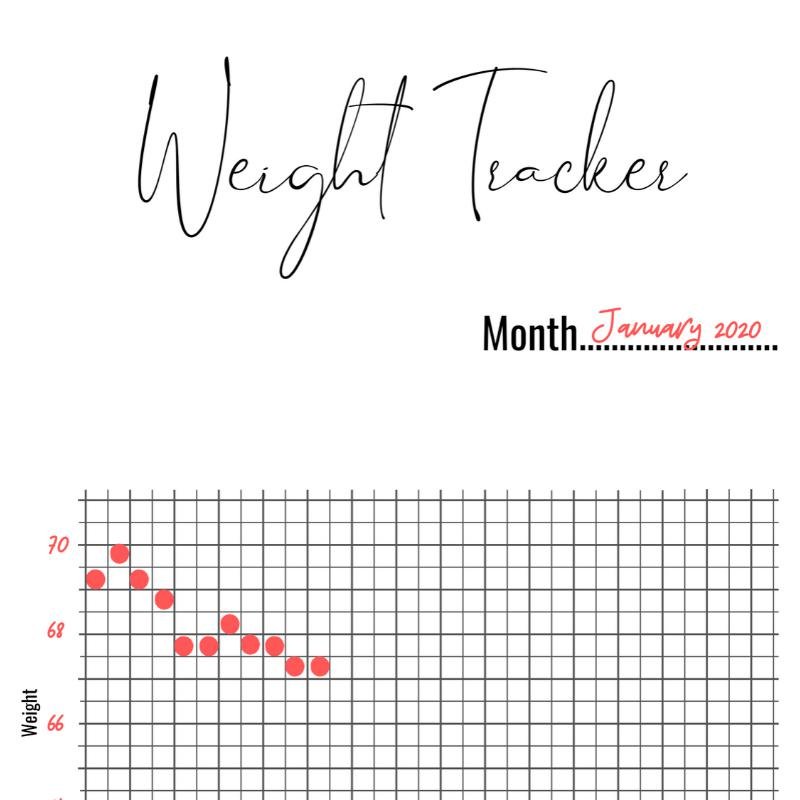 Weight Tracker Printable PDF - Yop and Tom