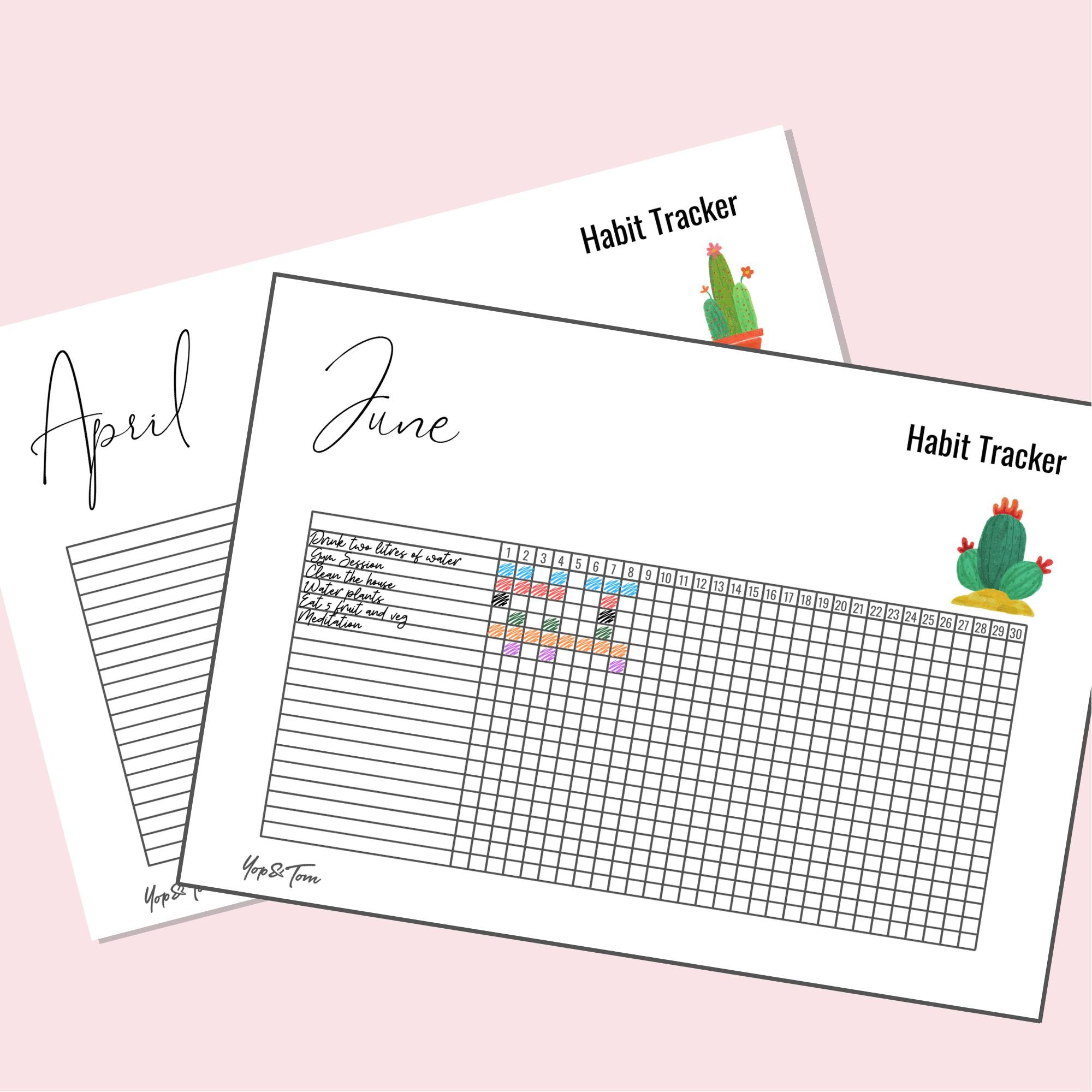 The Complete Guide to Habit Trackers (with free printables) - Yop & Tom