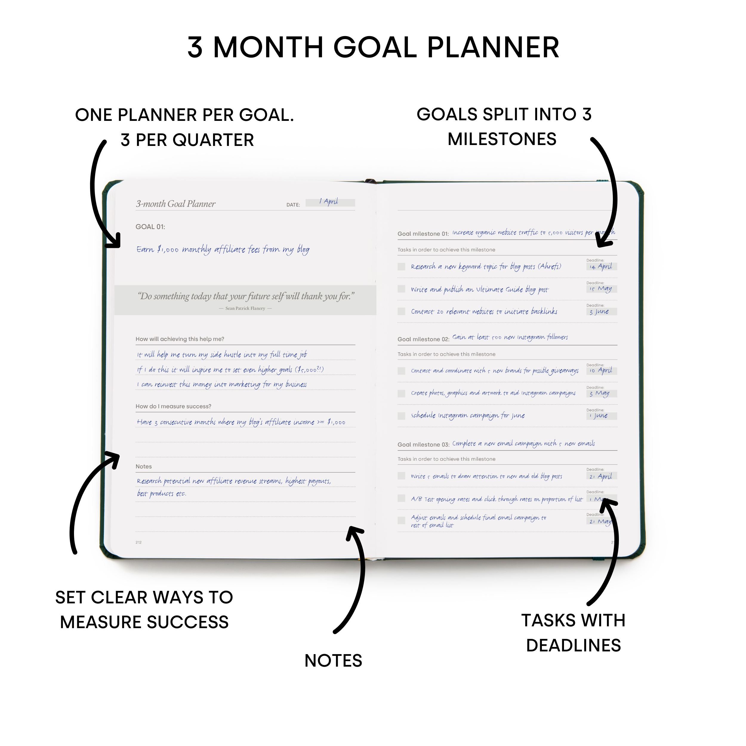 Power of 3 - 3-month Goal Planner