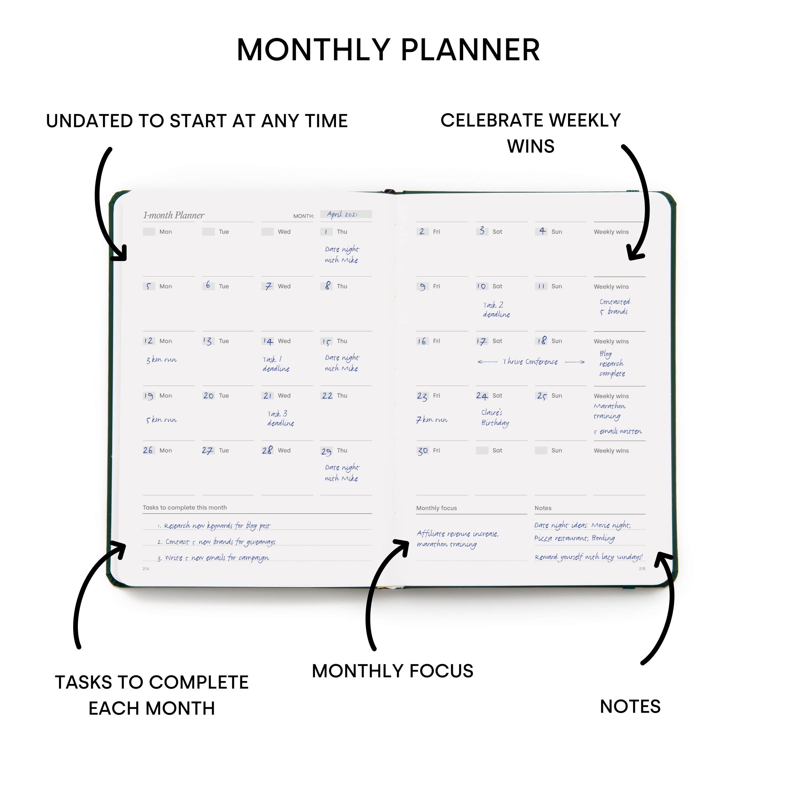 Power of 3 - Monthly Planner