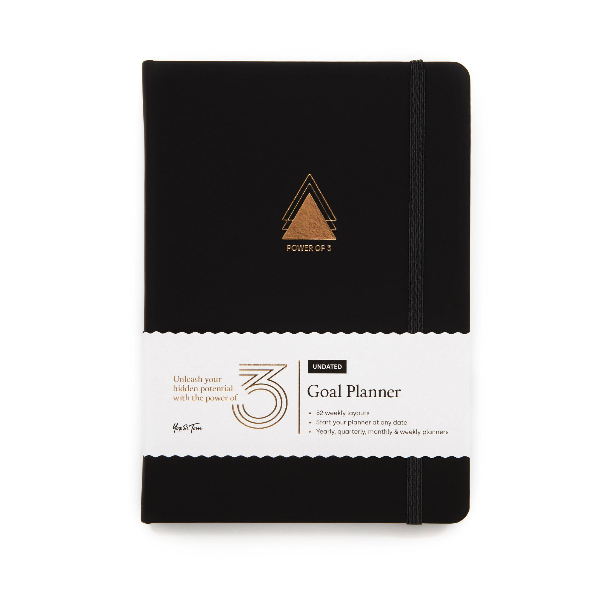 Power of 3 Undated Goal Planner - Charcoal