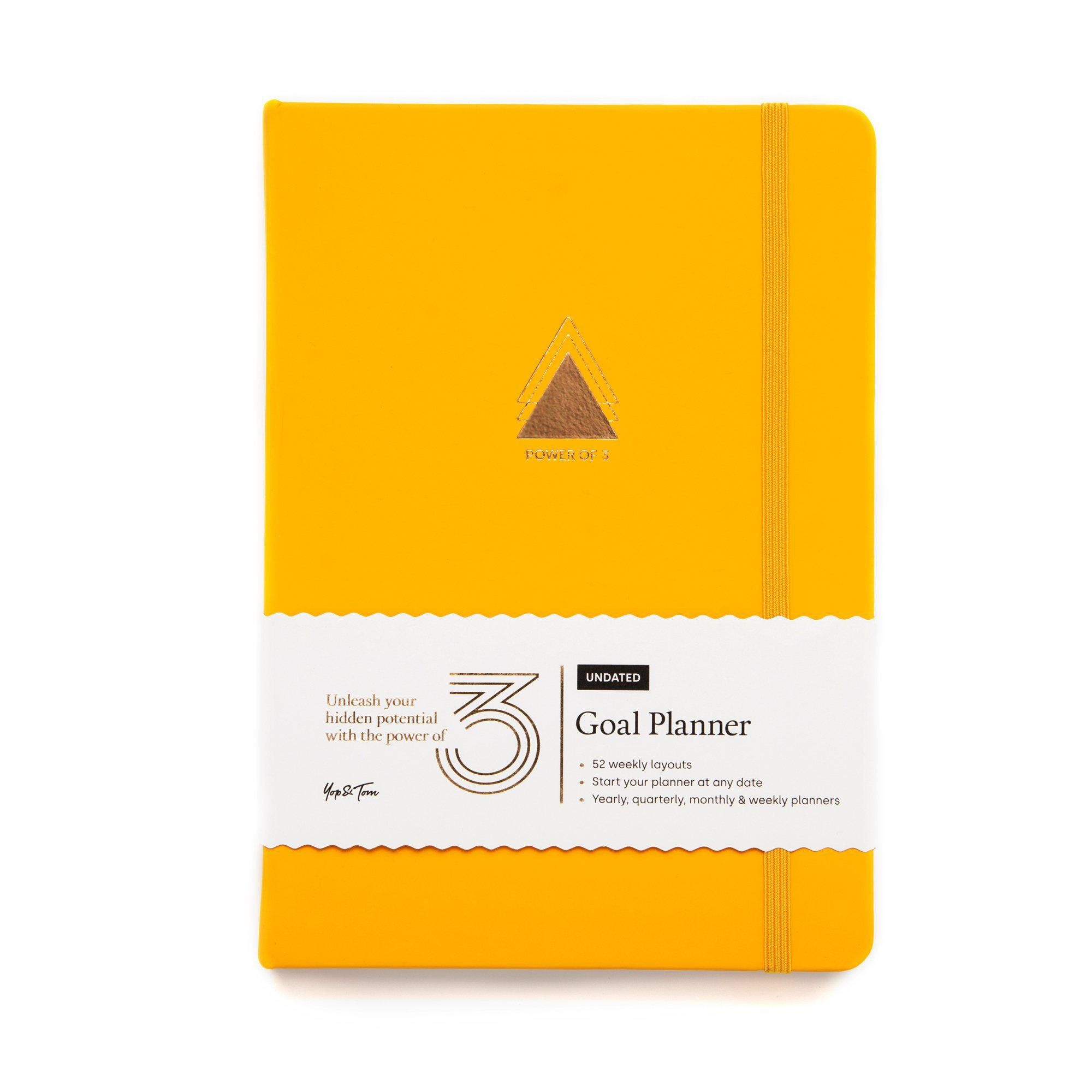 Power of 3 Undated Goal Planner - Sunshine Yellow