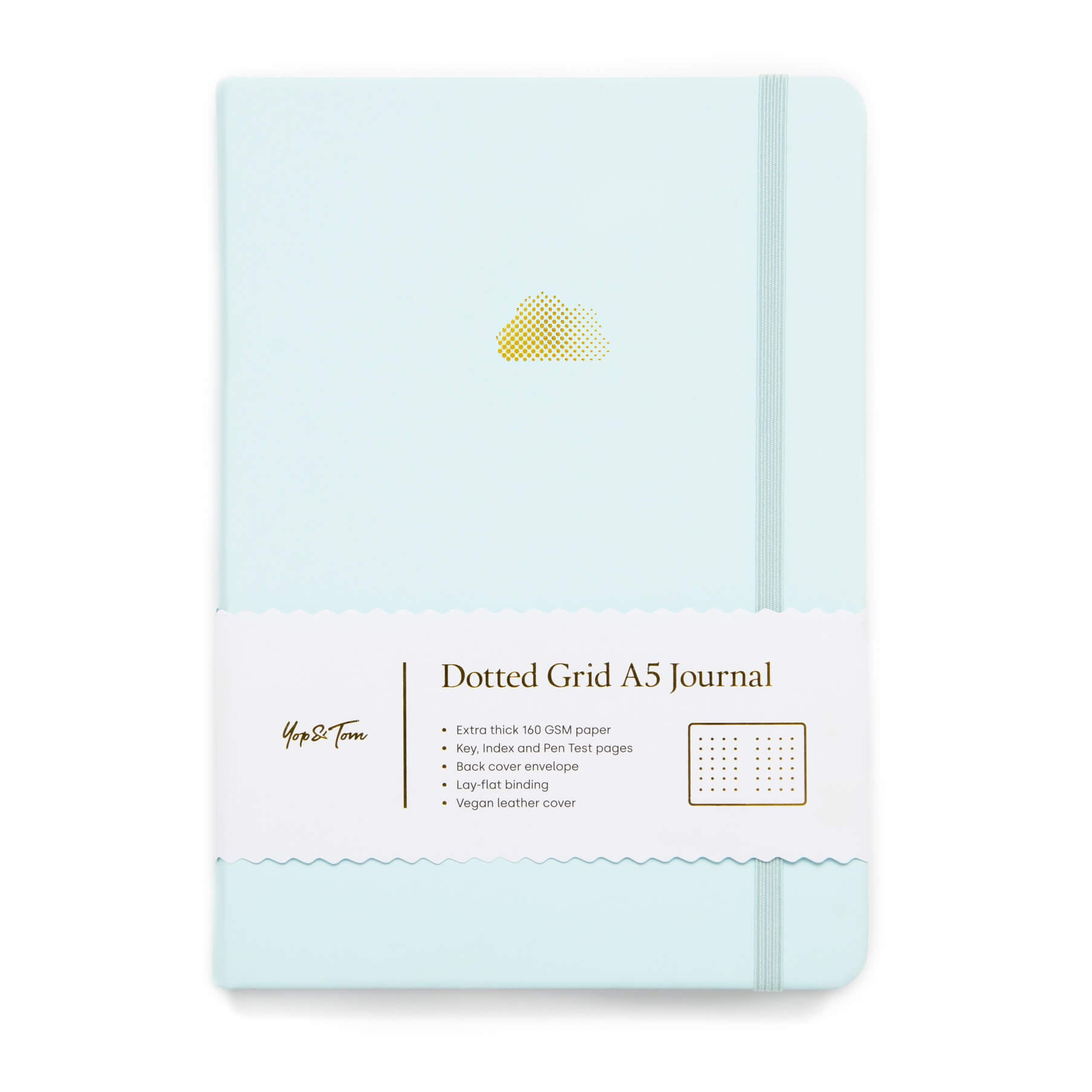 A5 Dot Grid Journal - Cloud - Eggshell Blue