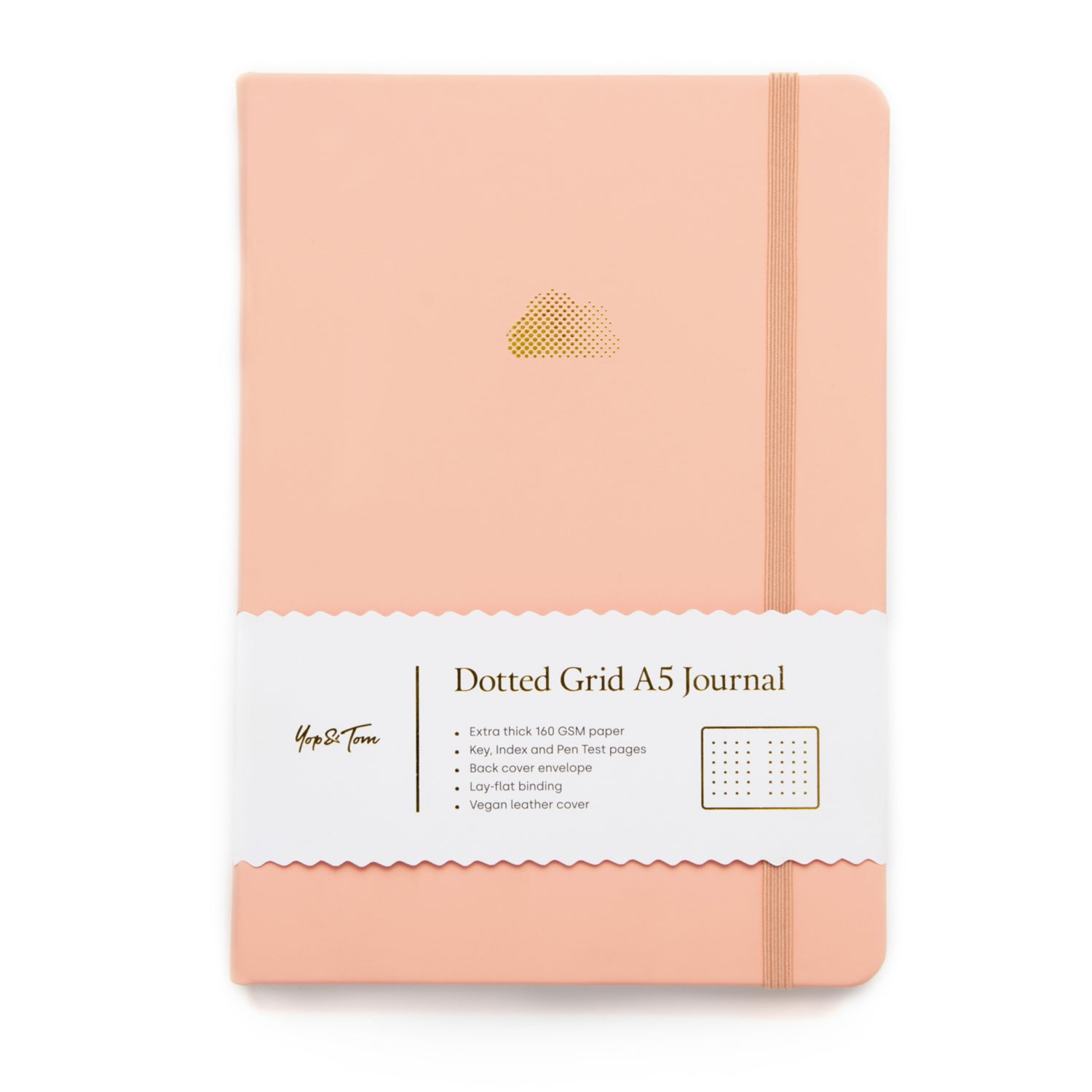 A5 Dot Grid Journal - Cloud - Pastel Peach
