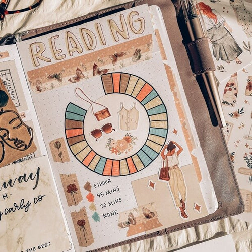 Journal showing reading tracker
