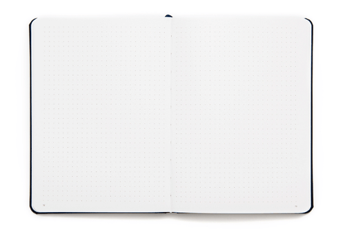 Dotted notebook that Lies flat - with lay-flay binding