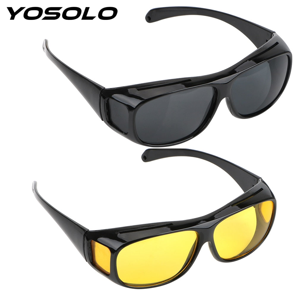 YOSOLO Driving Glasses  Night Vision Goggles Sunglasses HD Vision Sun Glasses Eyewear UV Protection Unisex