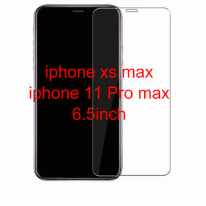 Protective tempered glass for iphone 7 6 6s 8 plus 11 pro XS max XR x