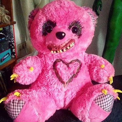 Valentino – Creepy OOAK Teddy Bear – Abandoned Toys