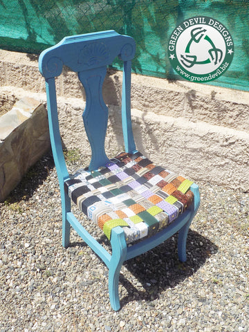 Upcycled belt chair