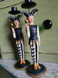 Jester Candlestick Holders