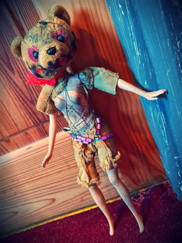 Tribal Bear Head Barbie