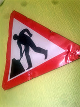 Load image into Gallery viewer, Men at Work road sign