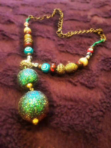 Upcycled Beaded Necklace