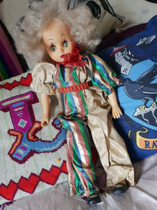 Retro female clown doll