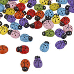 100 pc Mini Ladybugs Shaped Stickers