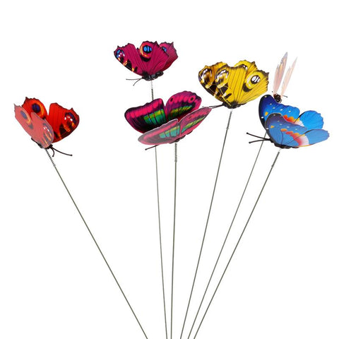 Colorful Butterfly Garden Stakes