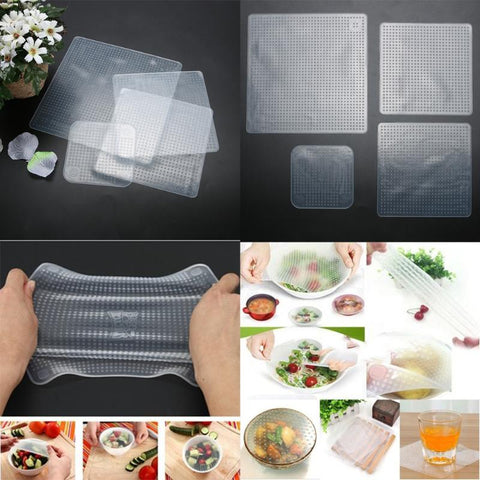 Reusable Silicone Stretch Wrap (4 pcs) - FREE SHIPPING