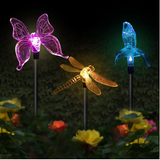 Color Changing Solar Powered Dragonfly Landscape Lights