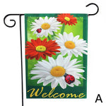 """Welcome"" Garden Flags With 6 Different Flower Arrangements"