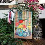 """Welcome"" Garden Hanging Flag"