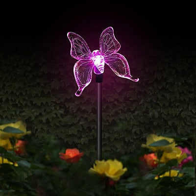 Color Changing Solar Powered Butterfly Landscape Lights