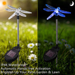 Color Changing Solar Powered Hummingbird Landscape Lights
