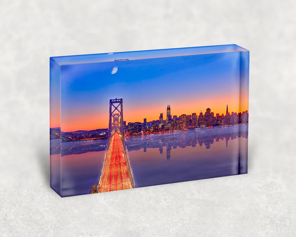 City in the Bay Acrylic Block