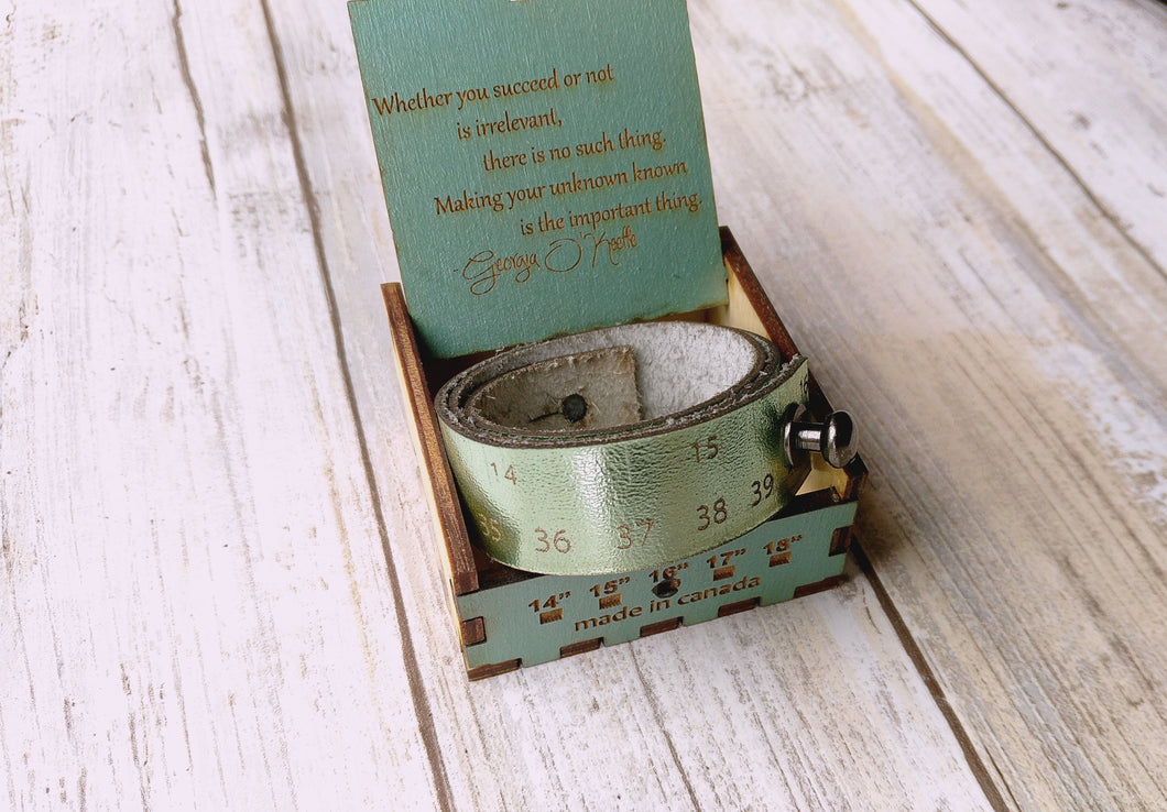 Metallic Green Big Blue Moma Creative Measures Bracelet