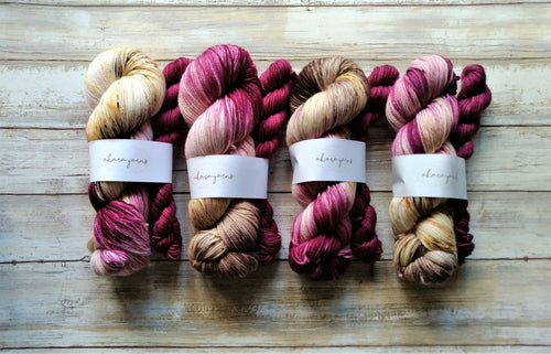 Mauve Sunset & Plum - Sock Kit (Merino Sock)