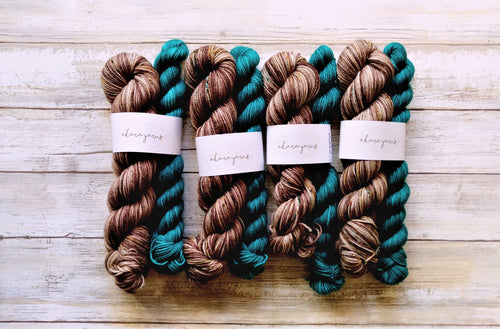 Campground & Teal - (Merino Sock) 50/20 gram Sock Kit