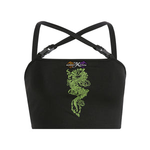 DRAGON Embroidery Tops